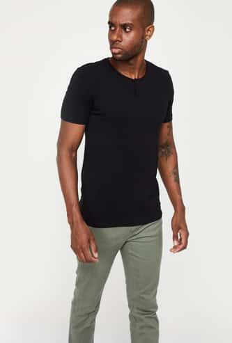 BOSSINI Short Sleeve Henley T-shirt