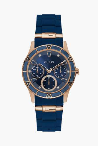 GUESS Women Analog Watch with Leather Strap - W1157L3