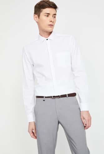 CODE Solid Slim Fit Formal Shirt