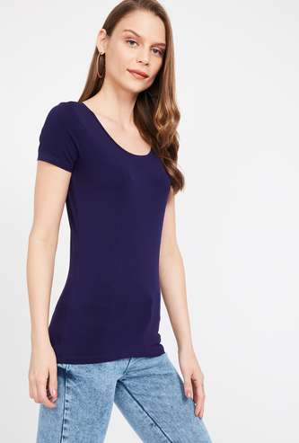 GINGER Solid Short Sleeves T-shirt