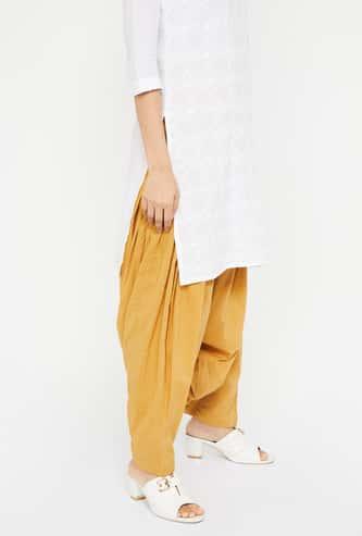 AURELIA Solid Patiala Pants