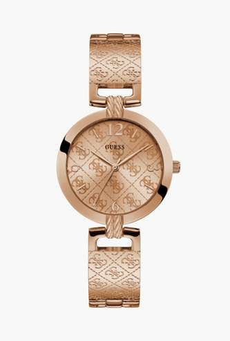GUESS Solid Analog Round Dial Women's Wristwatch - W1228L3