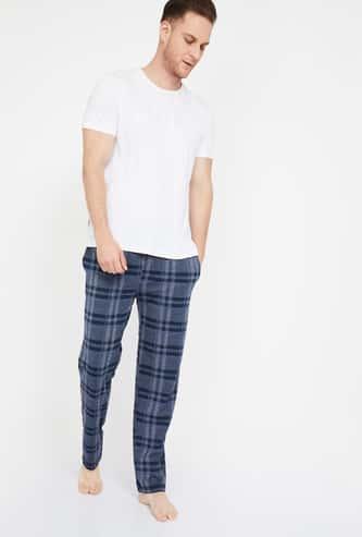 JOCKEY Slant Pockets Checked Pyjamas