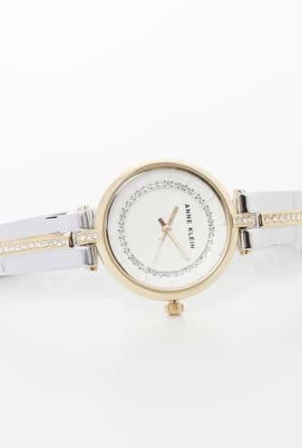 ANNE KLEIN Water-Resistant Embellished Analog Watch - AK3249SVTT