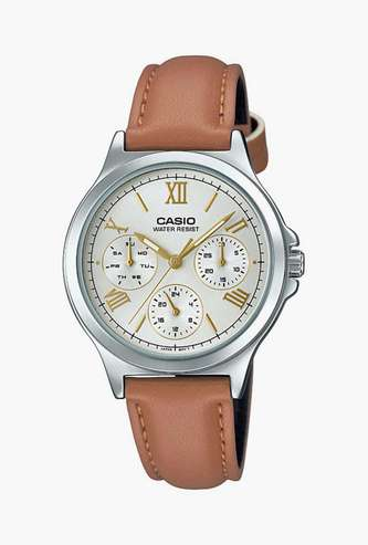 CASIO Women Analog Watch with Leather Strap - A1703