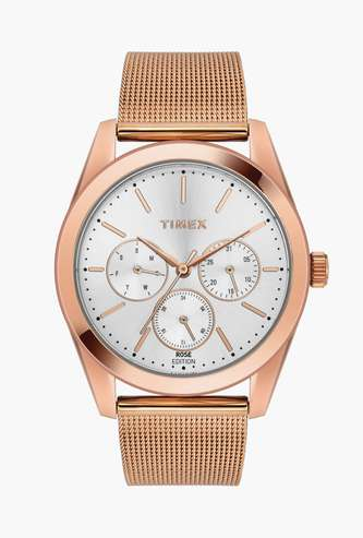TIMEX Women Multifunctional Watch with Stainless Steel Strap- TWEL13204