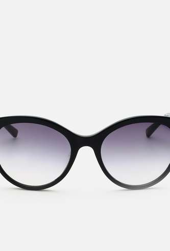 TOMMY HILFIGER Women UV-Protected Oval Sunglasses- TH2580BKSIBL-33C153