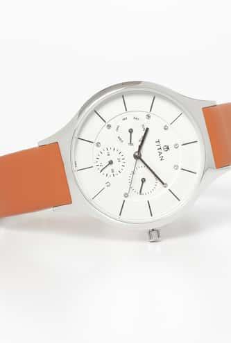 TITAN Women Water-Resistant Slimline Watch - 95067SL01