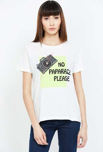 GINGER Graphic Print Regular Fit T-shirt