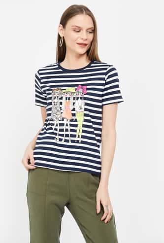 GINGER Striped Short Sleeves T-shirt