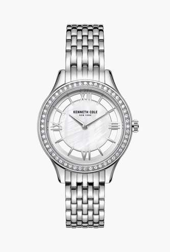 KENNETH COLE Women Crystal-Encrusted Analog Watch - KC50988001LD