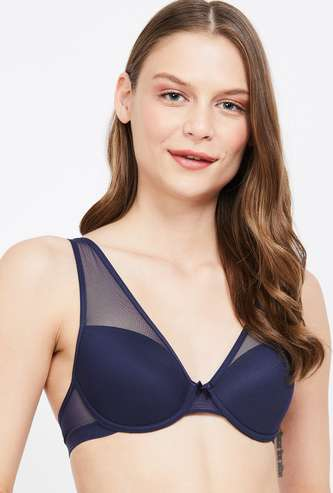 GINGER Padded Wired Soft Lace Bra