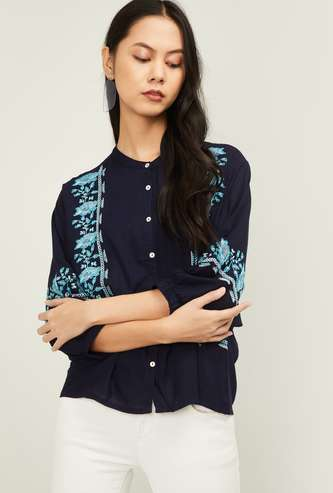 FAME FOREVER Women Embroidered Shirt