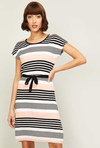 BOSSINI Women Striped A-Line Dress