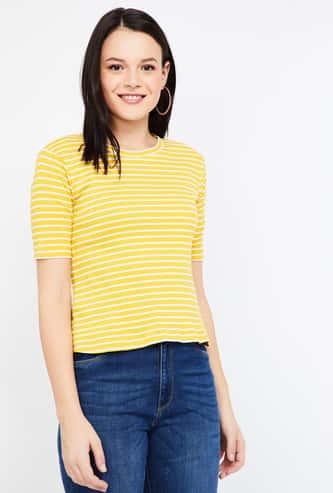 BOSSINI Striped Crew Neck T-shirt