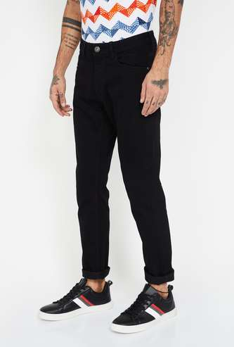 FORCA Solid Slim Tapered Fit Jeans