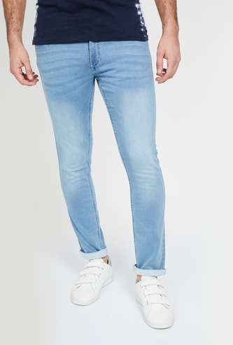 FORCA Stonewashed Slim Tapered Jeans