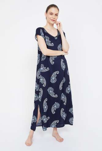 GINGER Paisley Print Night Dress