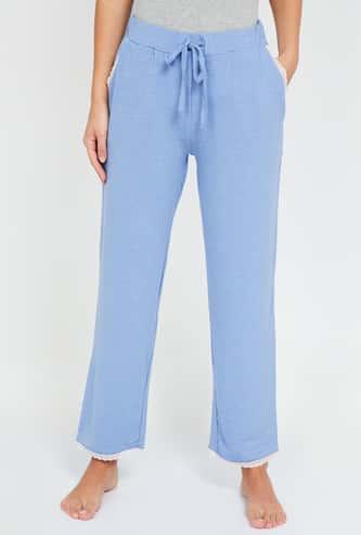 GINGER Women Solid Elasticated Pyjama