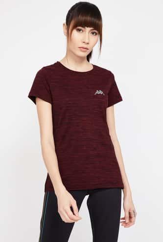 KAPPA Textured Regular Fit Lightweight T-shirt