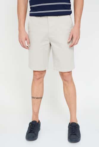 CODE Textured Regular Fit Shorts