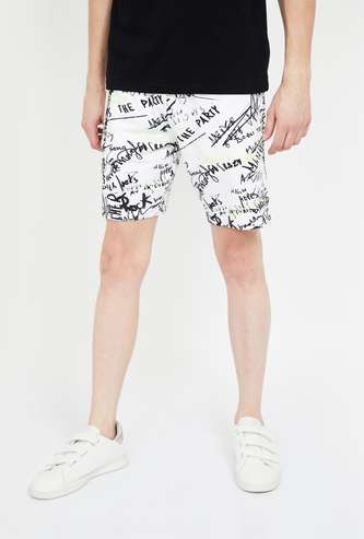SMILEYWORLD Printed Slim Fit Shorts