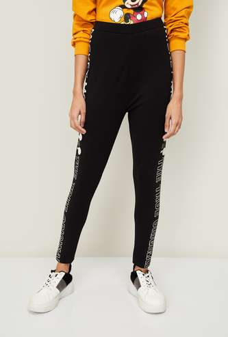 GINGER Women Mickey Mouse Print Tapered Pants