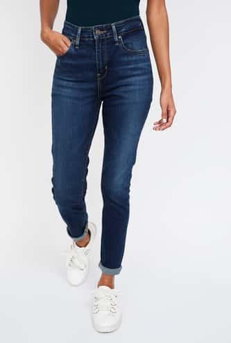 LEVI'S Stonewashed High-Rise Skinny Jeans