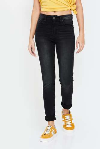 LEVI'S Dark Washed High-Rise Skinny Jeans