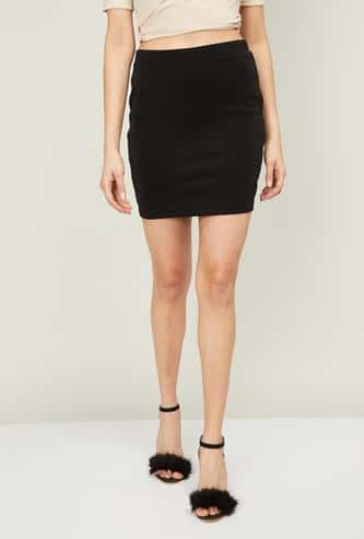 GINGER Women Speckled Mini Pencil Skirt
