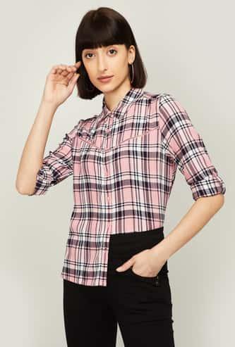 FAME FOREVER Women Checked Regular Fit Shirt