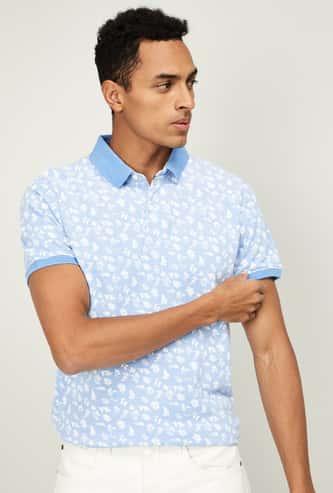 FAME FOREVER Men Printed Regular Ftit Polo T-shirt