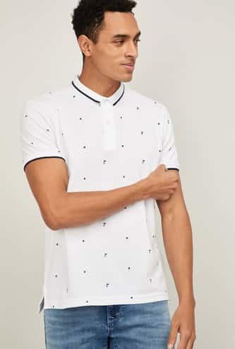 FAME FOREVER Men Printed Polo T-shirt