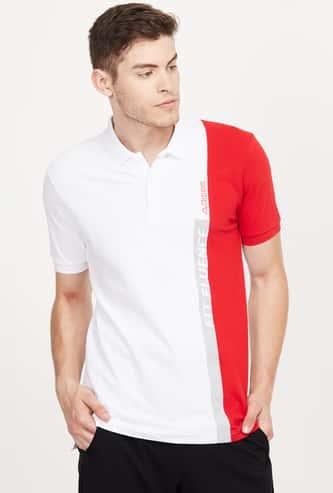 KAPPA Colourblocked Regular Fit Training Polo T-shirt
