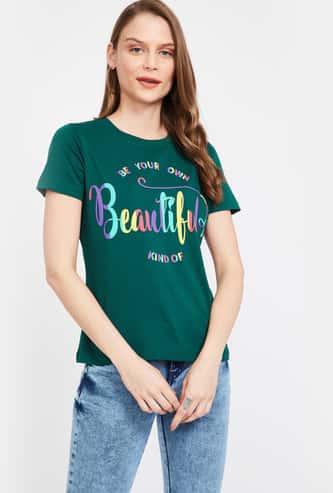 GINGER Typographic Print Short Sleeves T-shirt
