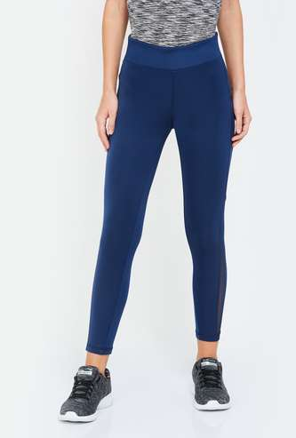 KAPPA Women High-Rise Cropped Tights with Mesh Panel