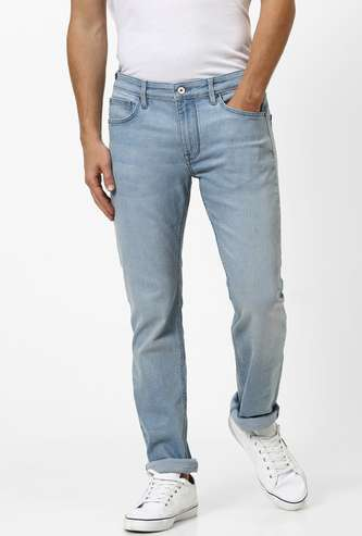 CELIO Lightly Washed Slim Straight Jeans