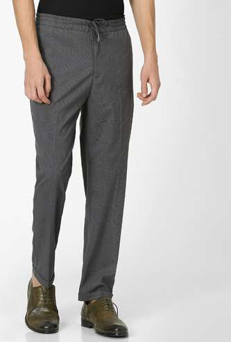 CELIO Checked Slim Tapered Trousers