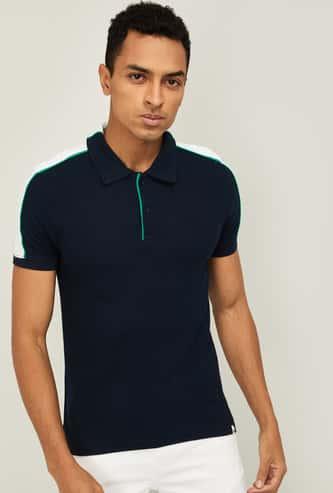 CELIO Men Solid Slim Fit Polo T-shirt