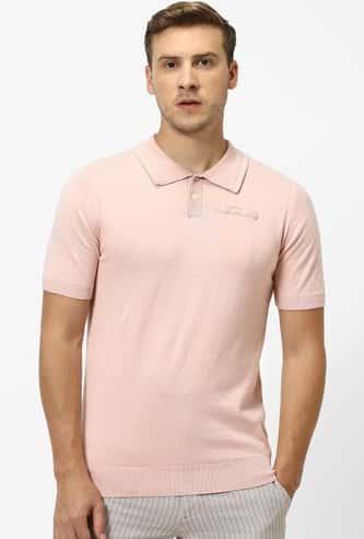CELIO Solid Slim Fit Polo T-shirt