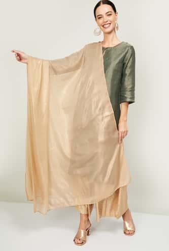 AURELIA Women Textured Semi-Sheer Dupatta
