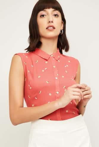 BOSSINI Women Printed Sleeveless Shirt