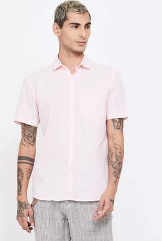 CODE Solid Regular Fit Casual Shirt