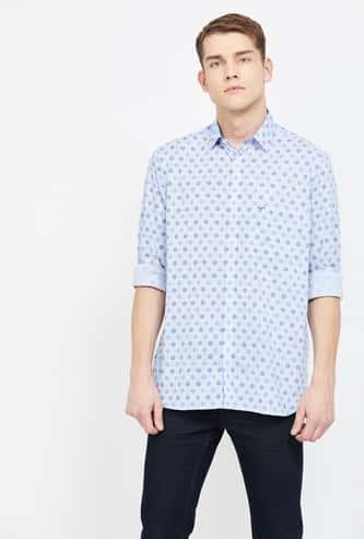 COLORPLUS Printed Full Sleeves Slim Fit Shirt