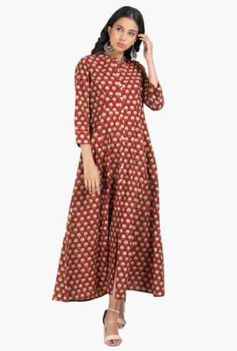 INDYA Women Floral Print Midi Dress