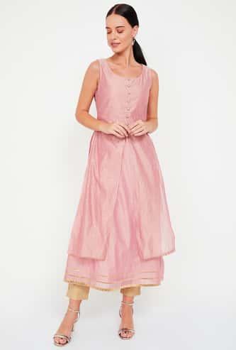 INDYA Embellished Layered Tunic