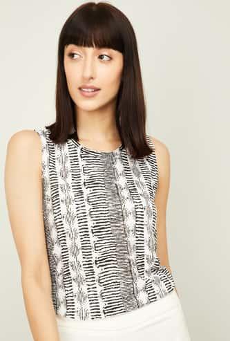 FAME FOREVER Women Printed Sleeveless Top