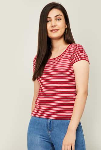 JEALOUS 21 Women Striped Round Neck T-shirt