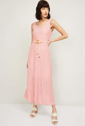 CODE Women Textured Maxi Dress