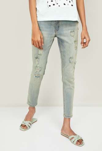 GINGER Women Washed Relaxed Fit Jeans